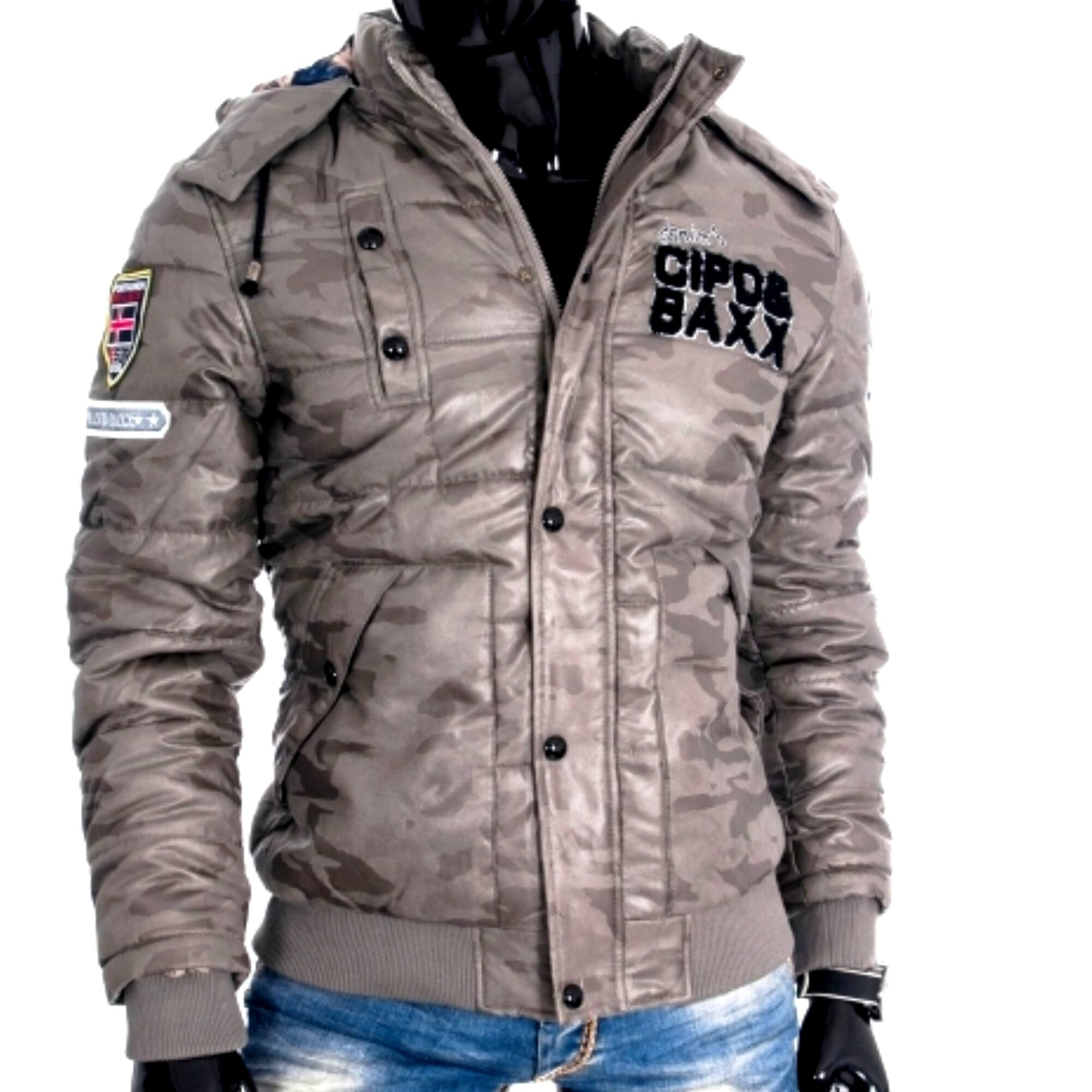 CIPO AND BAXX - MILITARY GR - Férfi Téli kabát - Prémium kategória ... 328bf89a9f